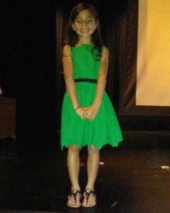 Ellie at her talent show April 2019