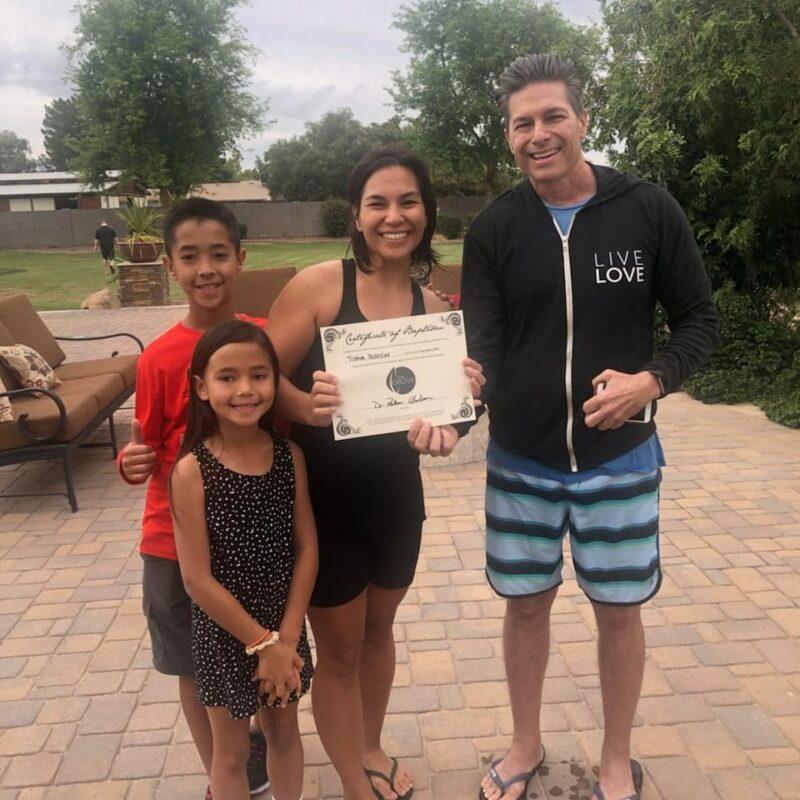 At my baptism May 19, 2019