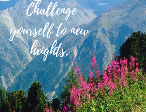 Rule of Life Lesson #130: Challenge yourself to new heights.