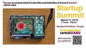 Arizona State University Startup Summit Spring March 17, 2018